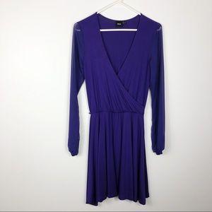 ASOS Athleisure Sheer Sleeve Wrap Pullover Dress